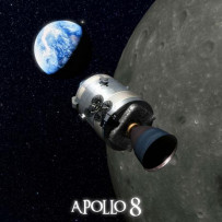 Mission « Apollo 8 » carte 3D